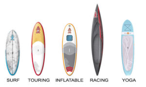 types paddle boards